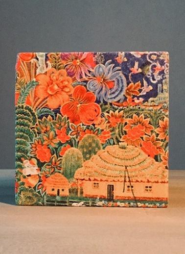 LWP Shop Çiçek-Ev Traverten Bardak Altlığı Renkli